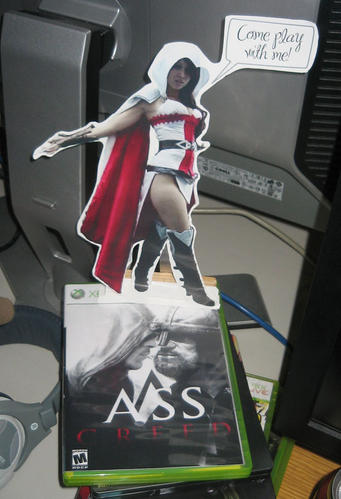 We secretly replaced Stormblade's game case with a home made copy indistinguishable from the original. Somehow he noticed...