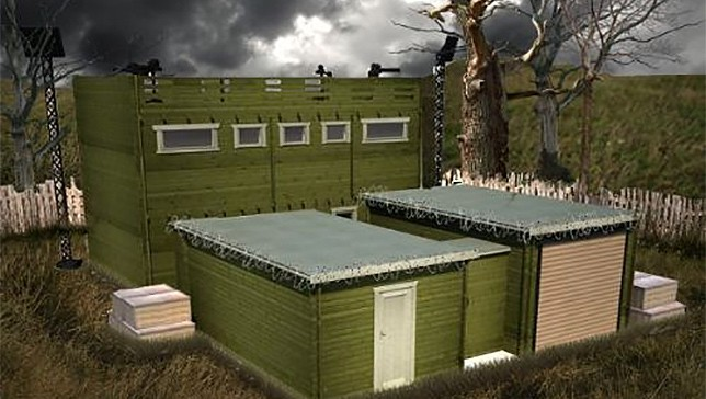 Zombie-proof log cabin (from mnn.com)